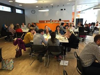 Speed-dating och mingel-lunch för blivande specialistläkare, april 2015