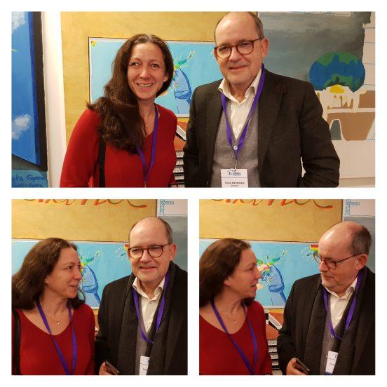 Terkel Andersen, (på bilden tillsammans med vår kanslichef Malin Grände) ordförande i EURORDIS, december 2018