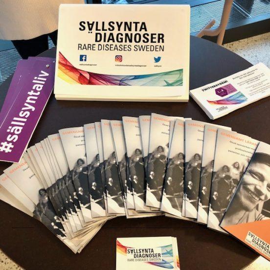 Bild på Sällsynta diagnosers informationsmaterial, januari 2019