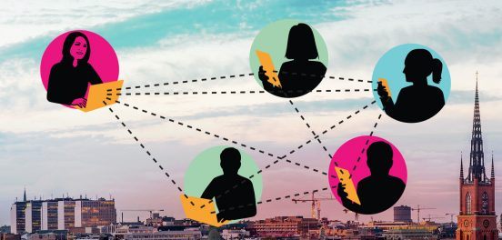 Bild som symboliserar enkäter via webben (från Novus)