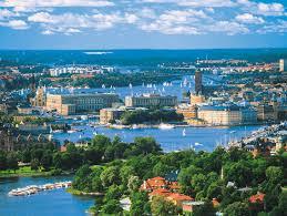 Bild med vy över centrala Stockholm