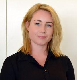 Bild på Nette Enström, invald i styrelsen, på årsmötet 21 april 2018