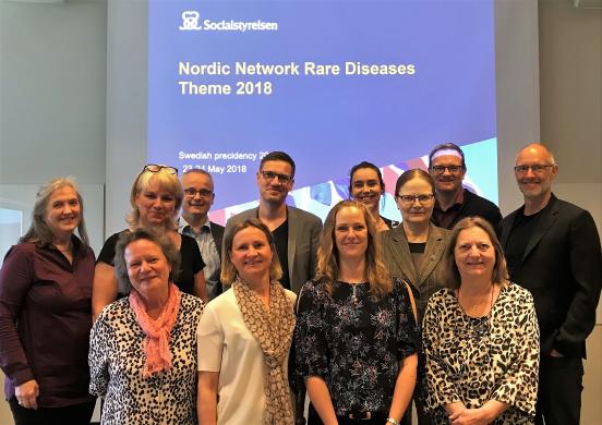 Bild på mötesdeltagare, Nordic Network möte i Sverige, maj 2018