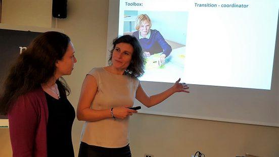 Bild på Malin Grände och Stephanie Juran, Sällsynta diagnoser, på europeisk PKU-konferens i Italien, hösten 2018