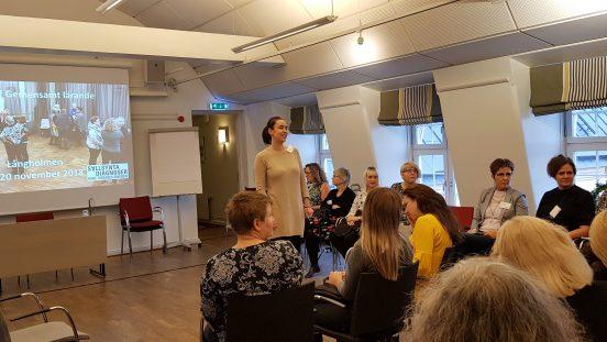 Bild från storträff i projektet Gemensamt lärande, 19-20 nov. 2018