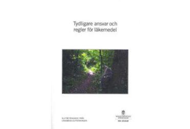 """Bild, omslaget till betänkandet """"Tydligare ansvar och regler för läkemedel"""", SOU 2018:89"""
