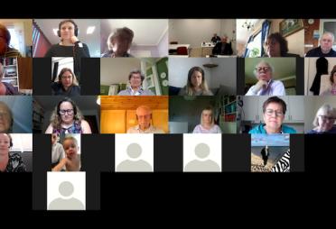 Skärmbild, deltagare vid Sällsynta diagnosers online-årsmöte 2020