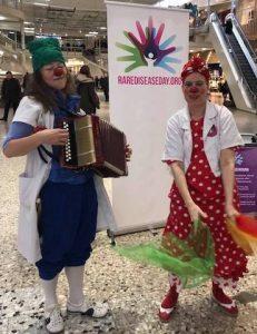 Clowner på Sällsynta dagen, Göteborg, 29 februari 2020