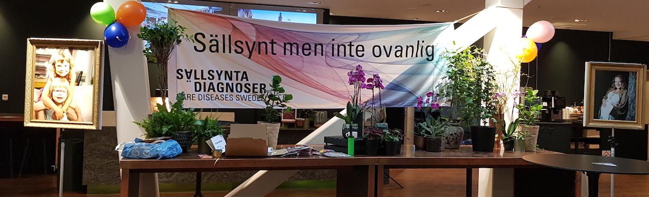 Bild från Sällsynta Stories 2020, dekorerat bord med en sällsynt vepa i bakgrunden