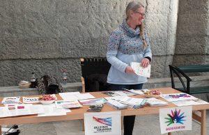 Vid bokbordet på Sunderby sjukhus, Sällsynta dagen 2020