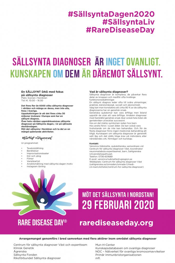 Sällsynta dagen 2020, Göteborg, programblad